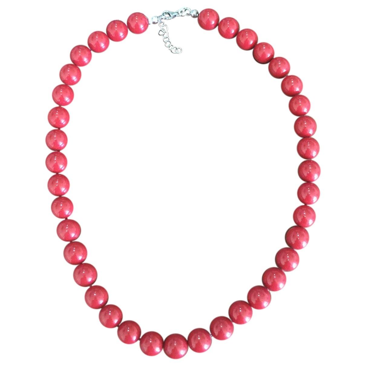 - Collier Corail pour femme en argent - rouge