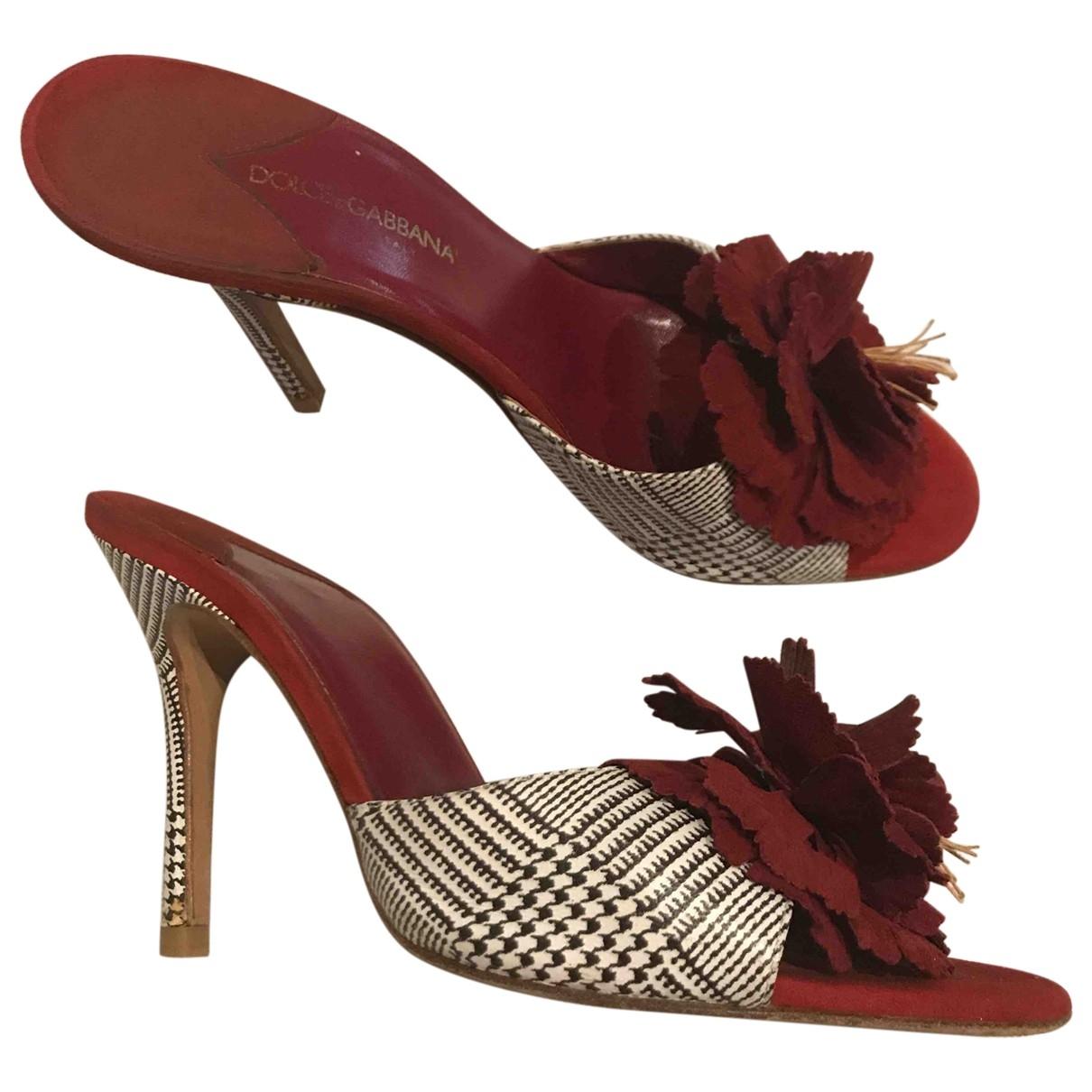 Zuecos de Cuero Dolce & Gabbana