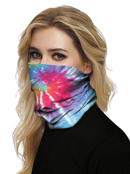 Milanoo Face Veil Mouth Cover Bandanas Tie Dye Seamless Face Scarf Cover Veil