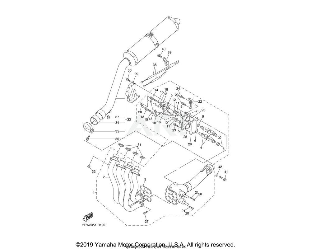 Yamaha OEM 5PW-14867-00-00 BRACKET