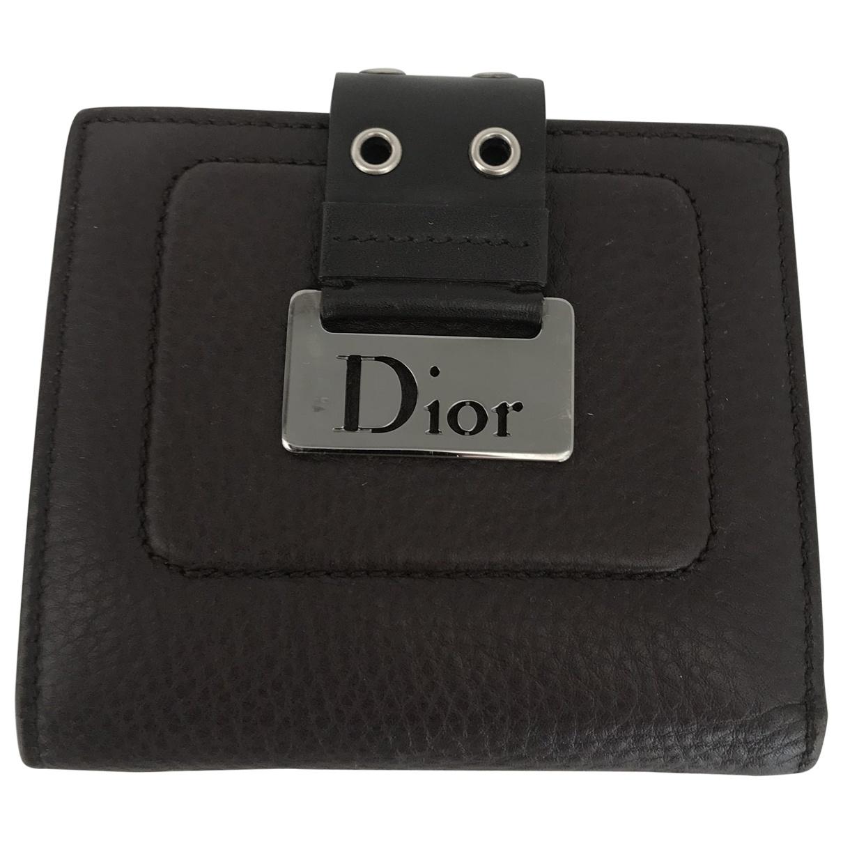 Dior \N Kleinlederwaren in  Braun Leder