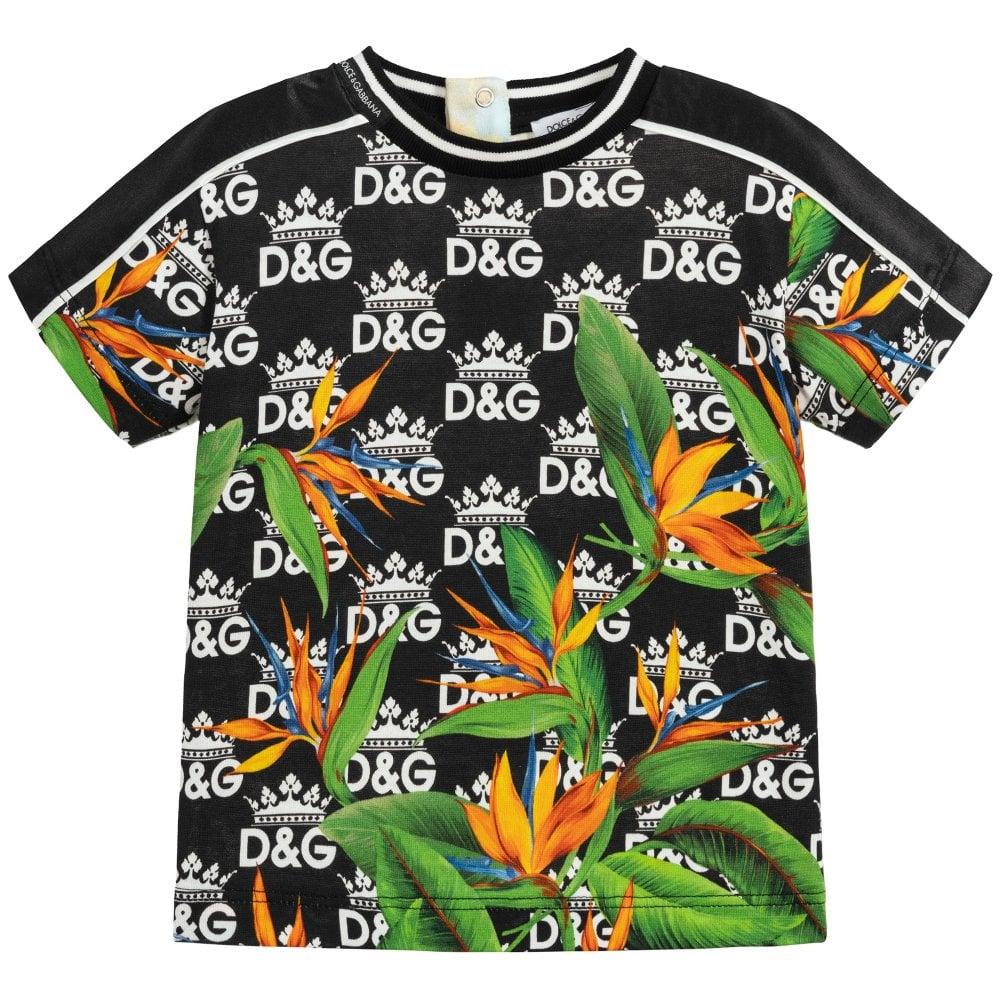 Dolce & Gabbana Baby Garden T-Shirt Colour: BLACK, Size: 3/6