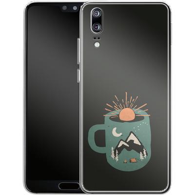 Huawei P20 Silikon Handyhuelle - Mountain Morning Wakeup von ND Tank