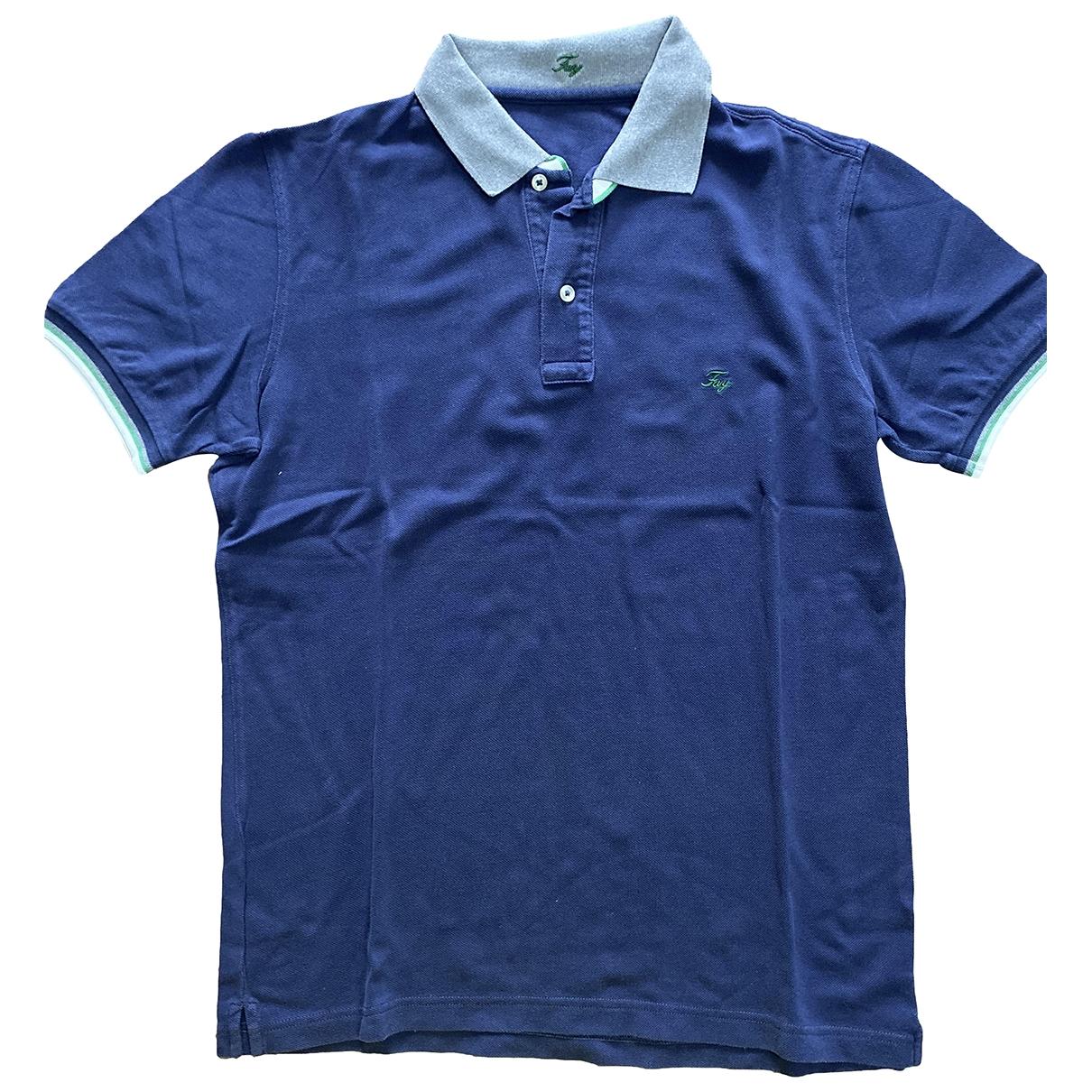 Fay - Polos   pour homme en coton - bleu