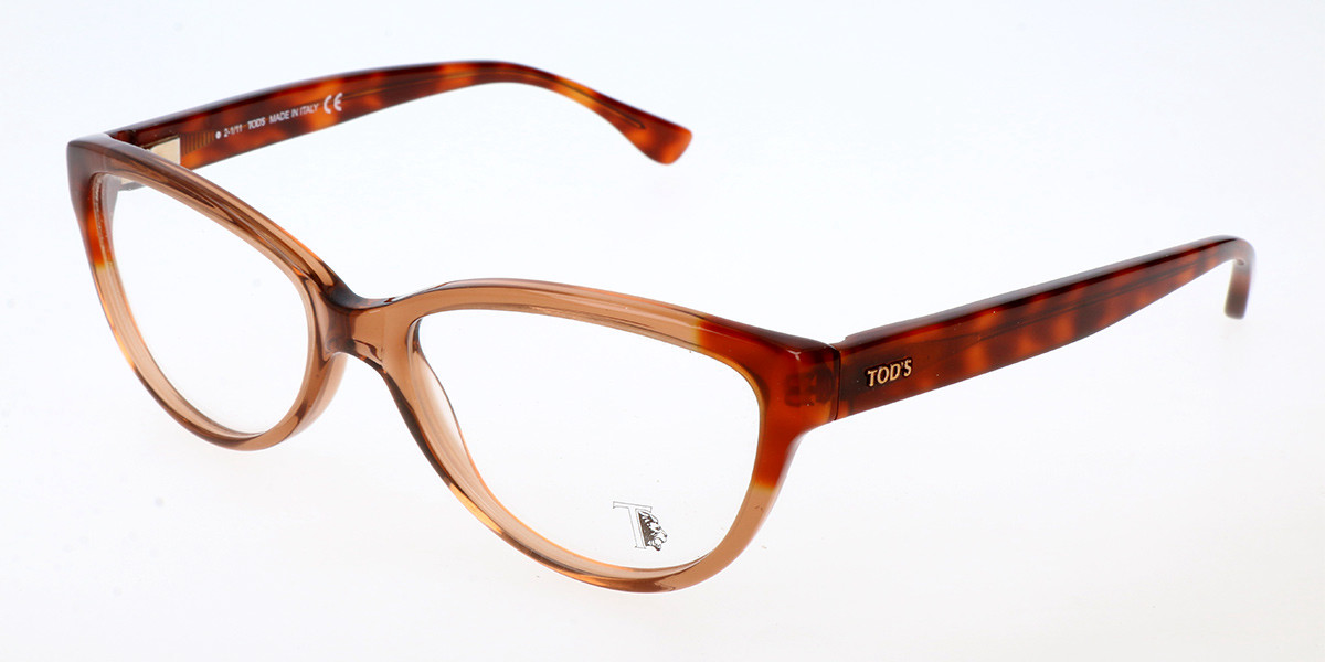 TODS TO05038 047 Women's Glasses Brown Size 53 - Free Lenses - HSA/FSA Insurance - Blue Light Block Available
