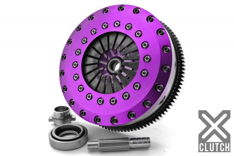 XClutch XKNI23531-2G Clutch Kit with Chromoly Flywheel 9-Inch and Twin Solid Organic Clutch Discs