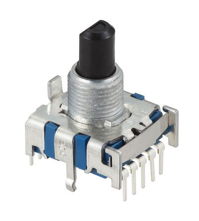 Alps Alpine , 6 Position SP6T Rotary Switch, 300 mA, PC Pin