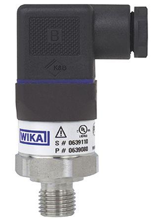 WIKA Pressure Sensor for Gas, Liquid , 9bar Max Pressure Reading Analogue