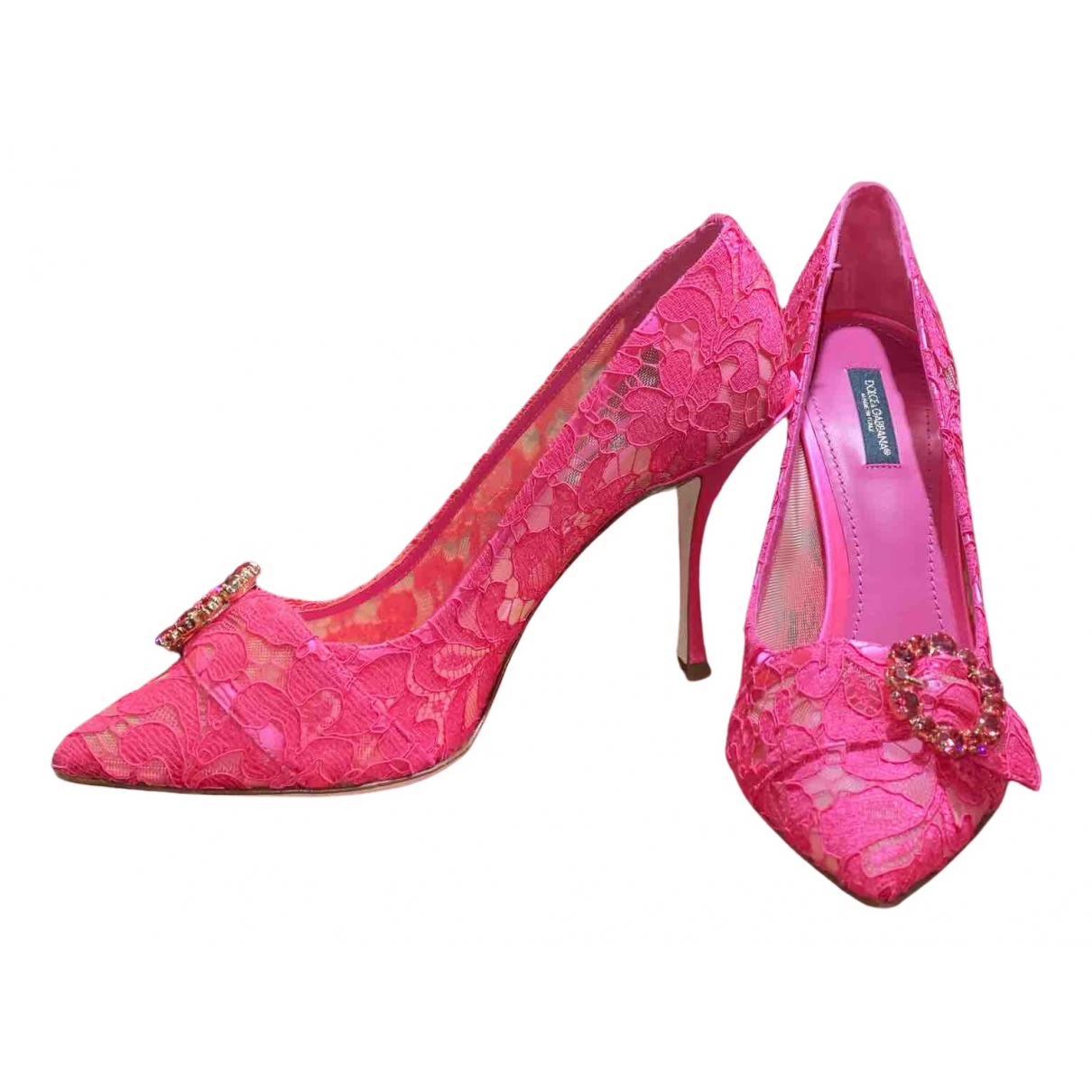 Dolce & Gabbana \N Pumps in  Rosa Polyester