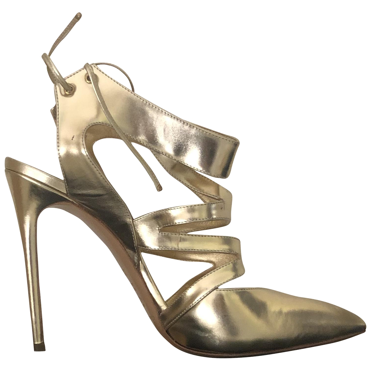 Casadei \N Gold Leather Heels for Women 38.5 EU