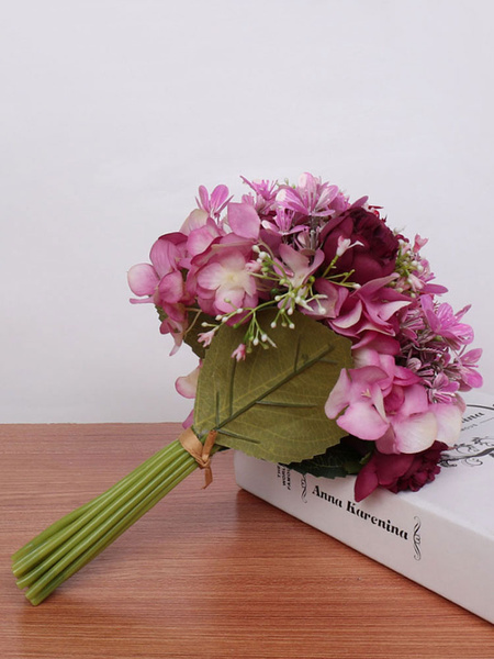 Milanoo Flowers For Wedding Gorgeous Hand-tied Shape Poly/Cotton Blend Wedding Bouquets