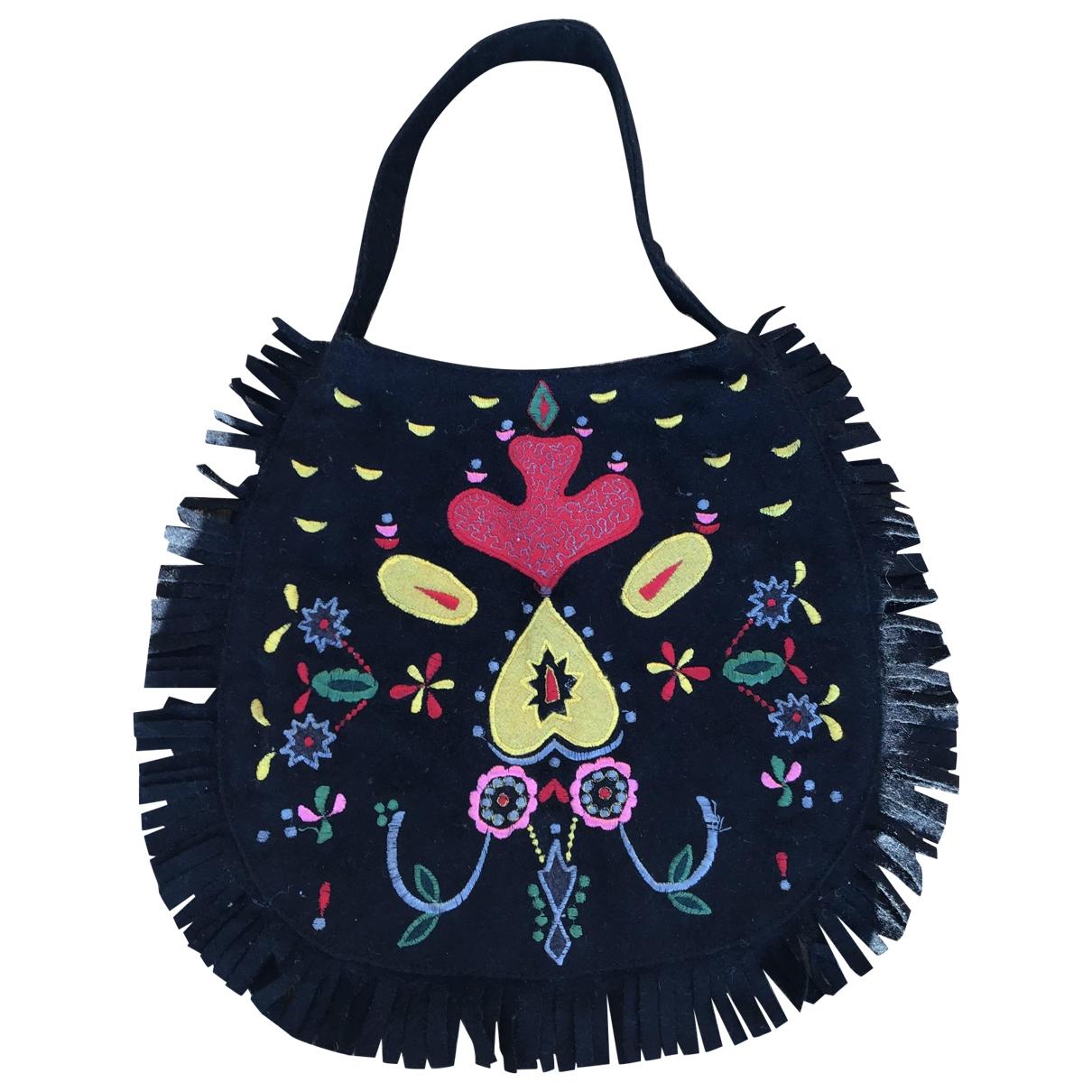 Antik Batik \N Handtasche in  Schwarz Wolle
