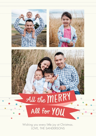 Christmas Photo Cards Flat Matte Photo Paper Cards with Envelopes, 5x7, Card & Stationery -All the Merry to You by Hallmark