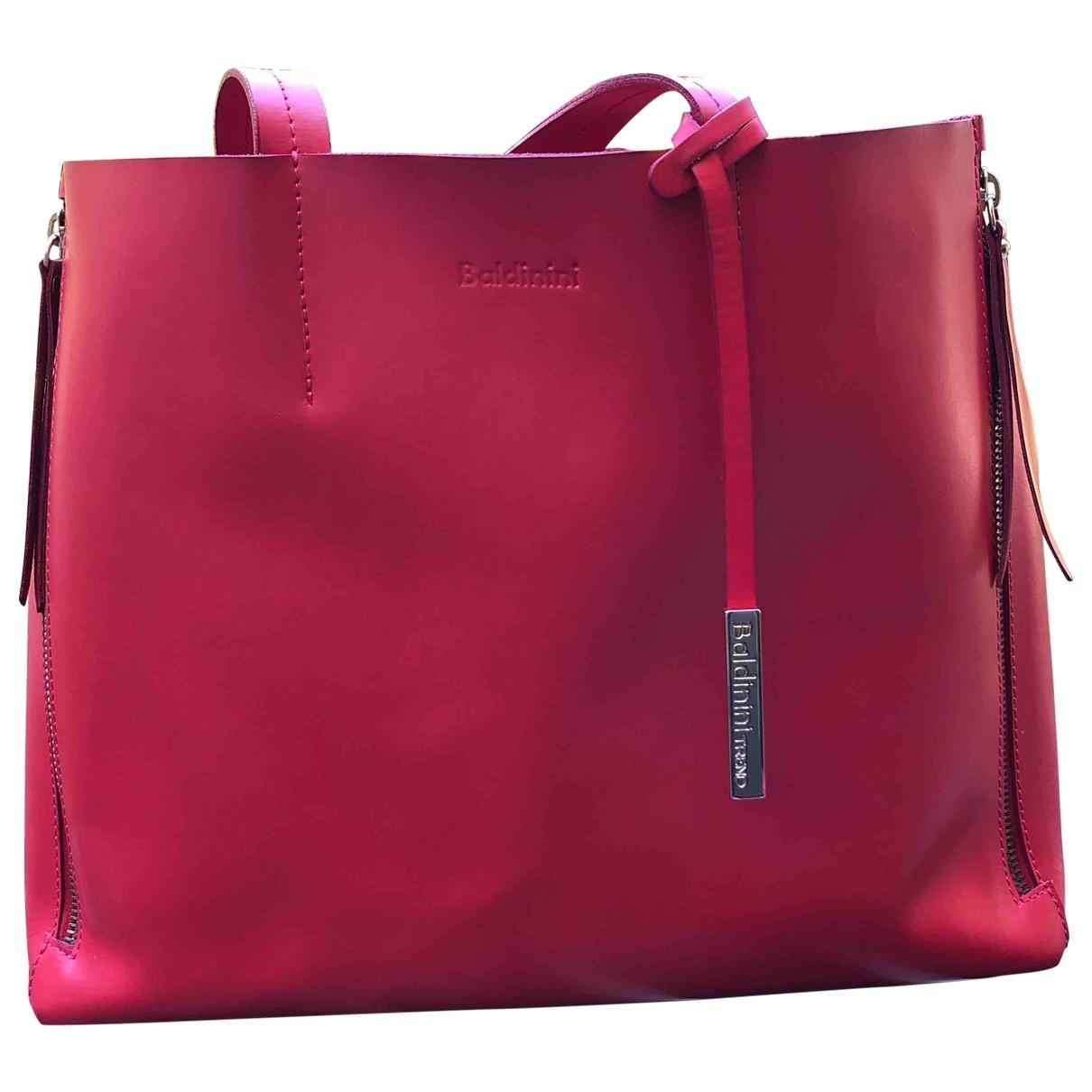 Baldinini \N Red Leather handbag for Women \N