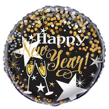 Ballon rond brillant pour le Nouvel An 18