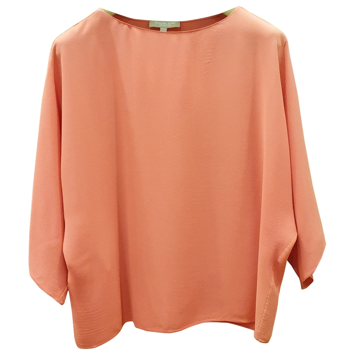 Michael Kors - Top   pour femme en soie - orange