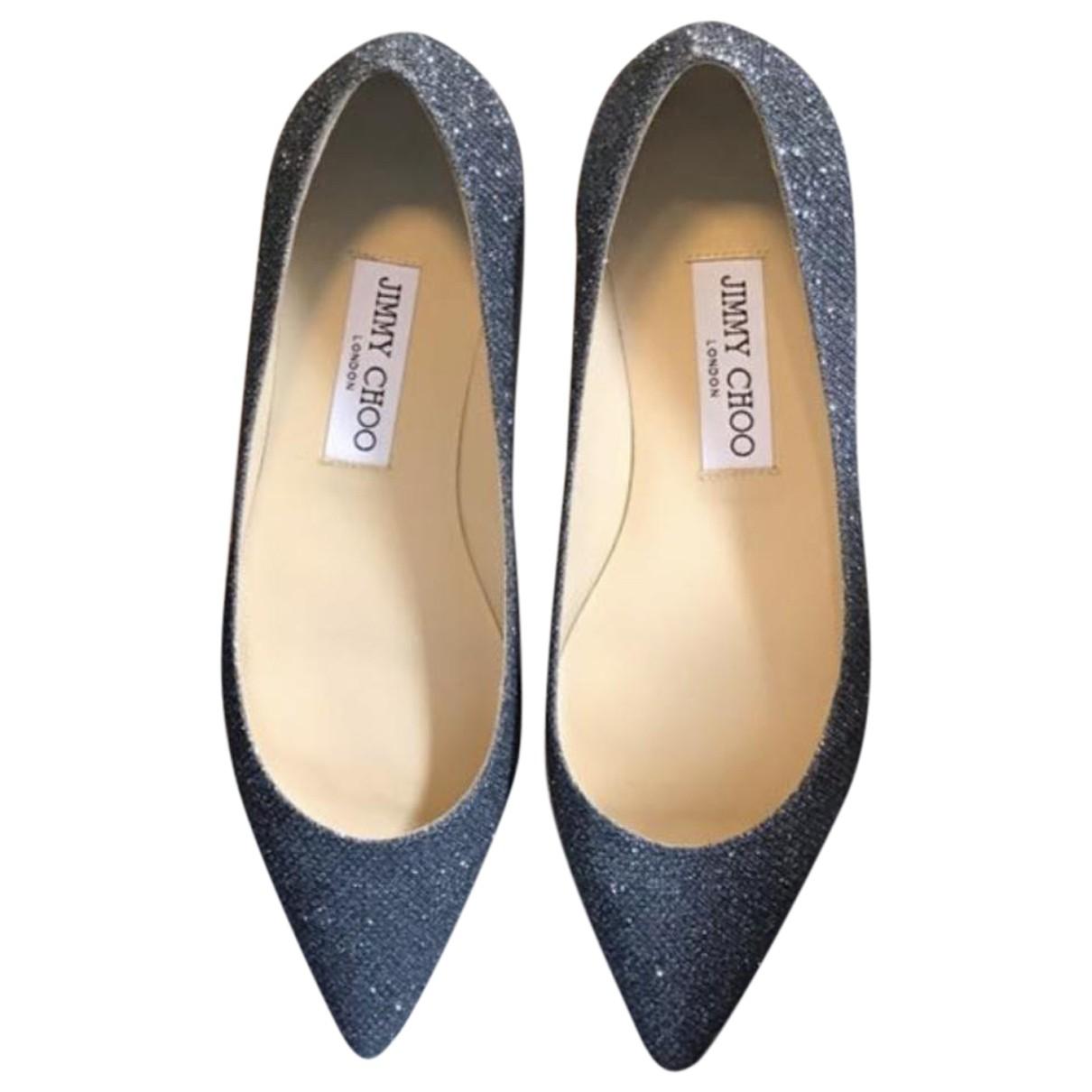 Jimmy Choo \N Blue Cloth Ballet flats for Women 38 EU