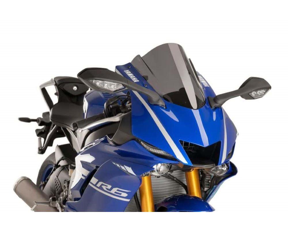 Puig 9723F Z-Racing Windscreen - Dark Smoke Yamaha YZF-R6 2017