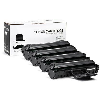 Compatible Samsung SCX-4521D3 Black Toner Cartridge High Yield - Moustache@ - 4/Pack