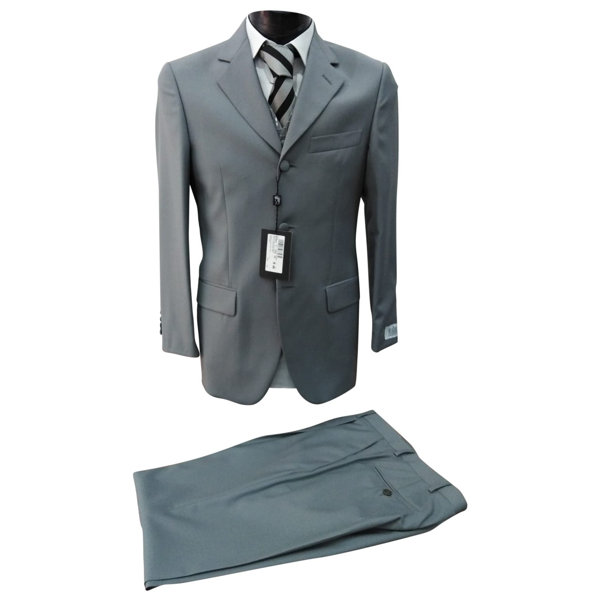 Prandina N Grey Wool Suits for Men 46 IT