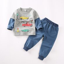 Toddler Boys Slogan Graphic Tee & Sweatpants
