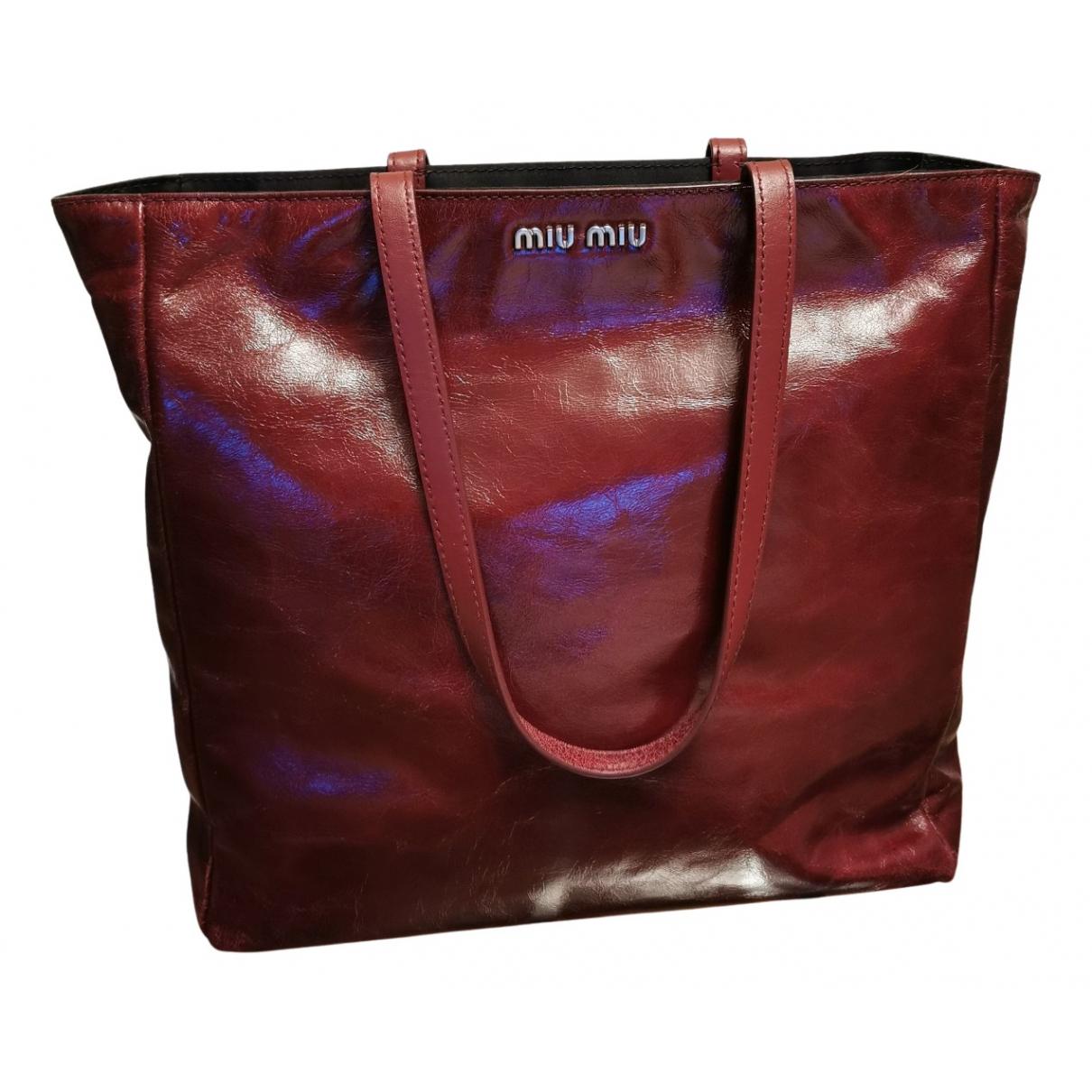 Miu Miu N Burgundy Leather handbag for Women N