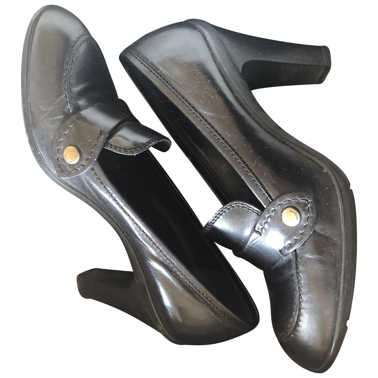 Hogan \N Black Leather Flats for Women 38.5 IT
