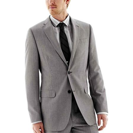 JF J. Ferrar End on End Suit Jacket - Classic Fit, 40 Regular, Gray