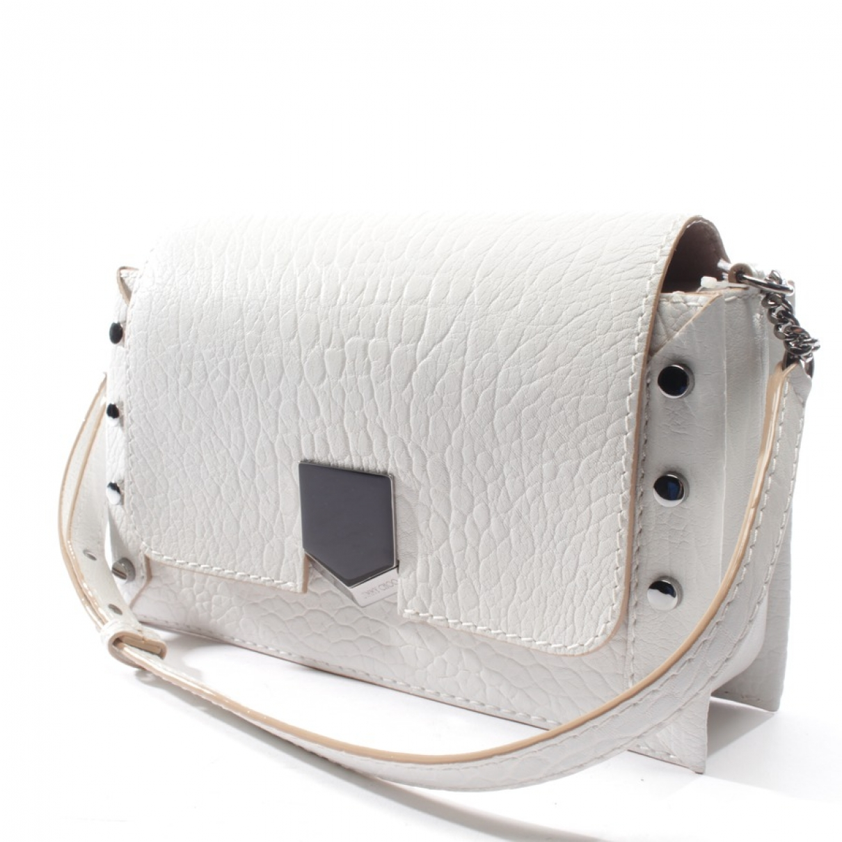 Jimmy Choo Lockett Handtasche in  Weiss Leder