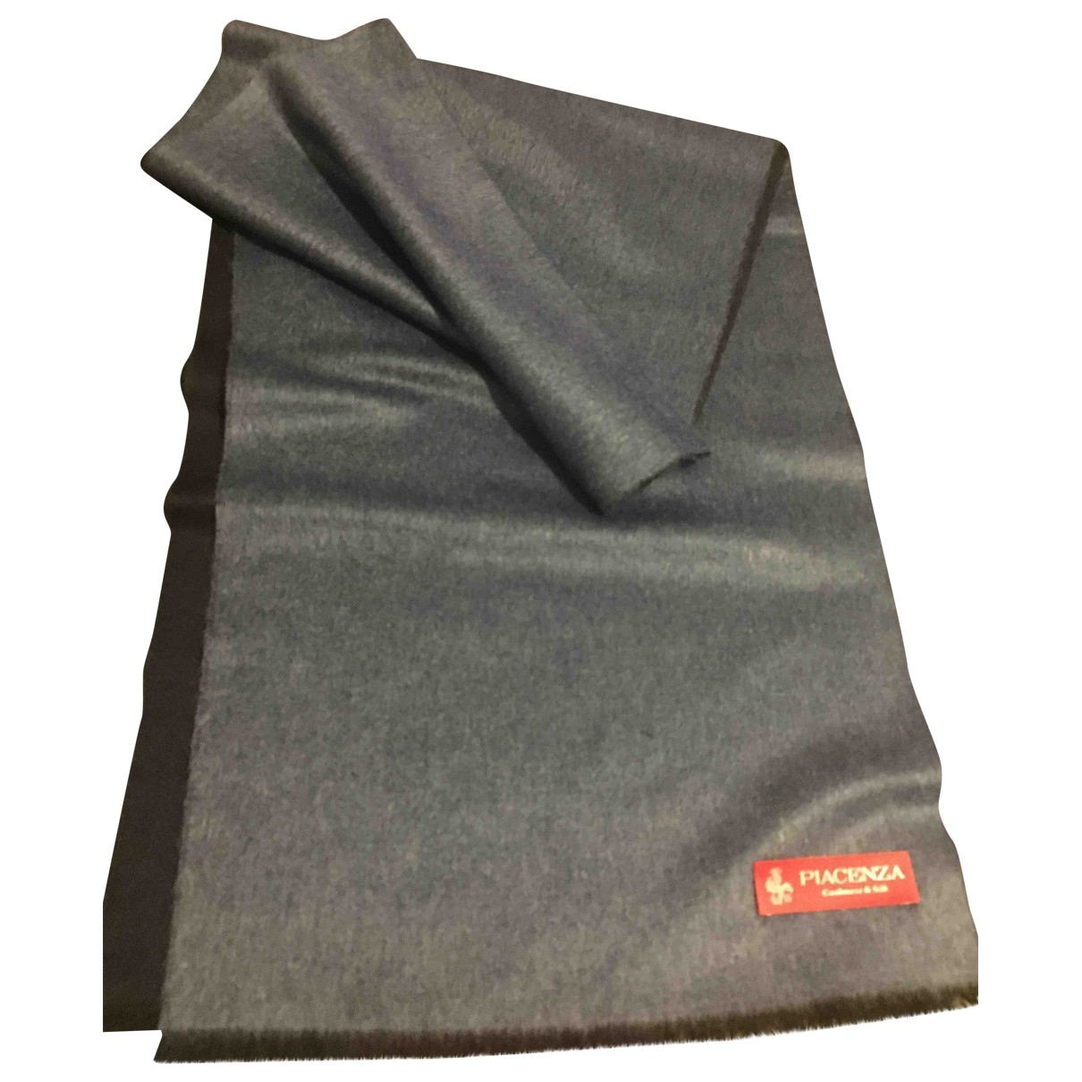 Non Signé / Unsigned \N Blue Cashmere scarf & pocket squares for Men \N