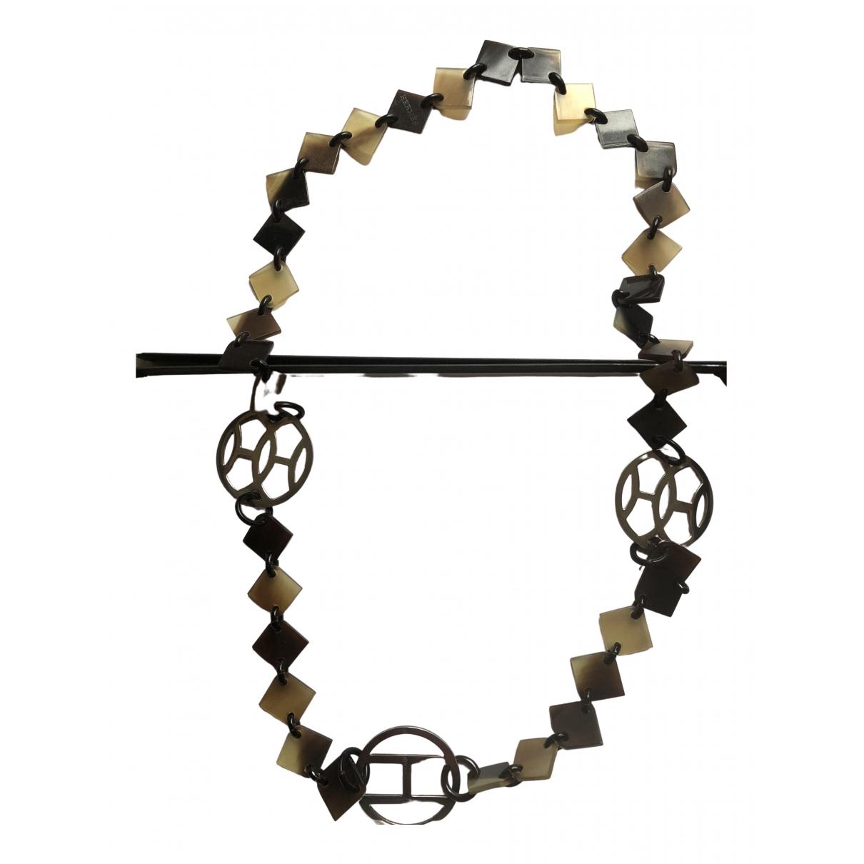 Hermes \N Halskette in  Silber Horn