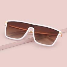 Sonnenbrille mit flachem Oberteil