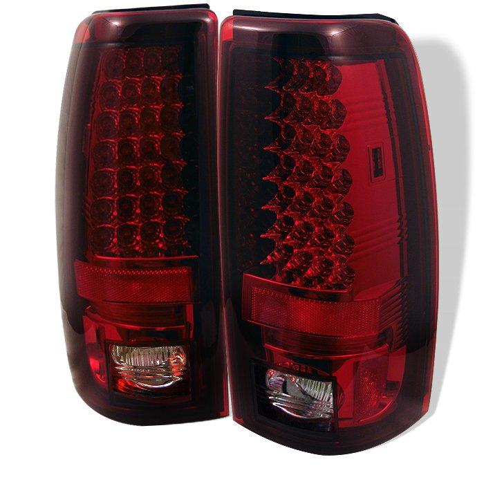 Spyder LED Red/Clear Tail Lights Chevrolet Silverado & GMC Sierra 1500/2500/3500 03-06