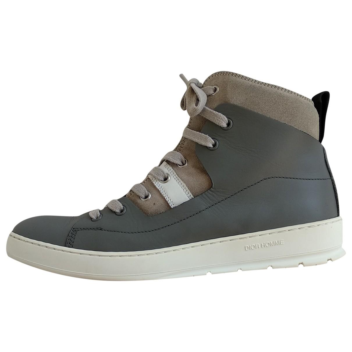 Dior Homme \N Sneakers in  Grau Leder