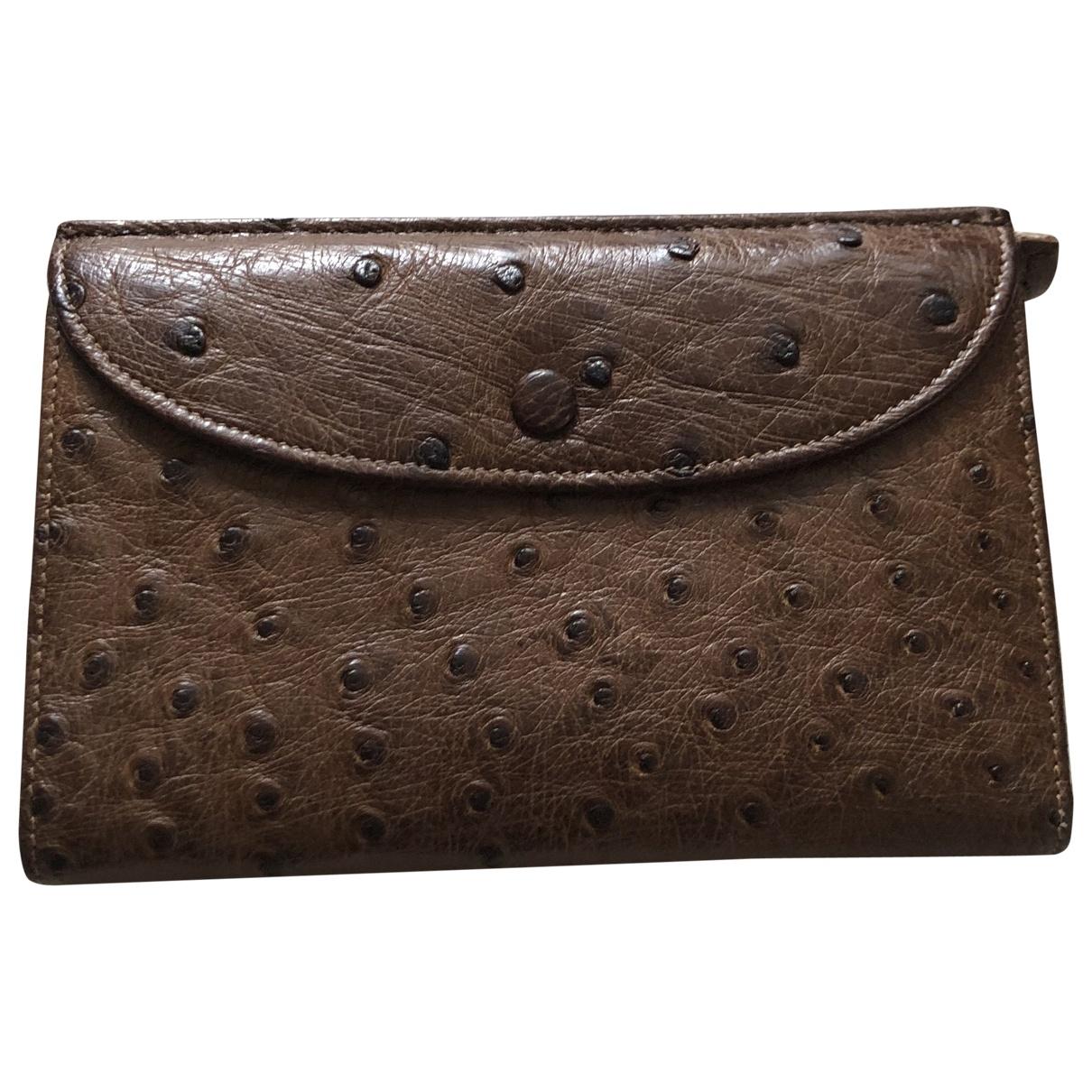 Peal & Co \N Brown Ostrich wallet for Women \N