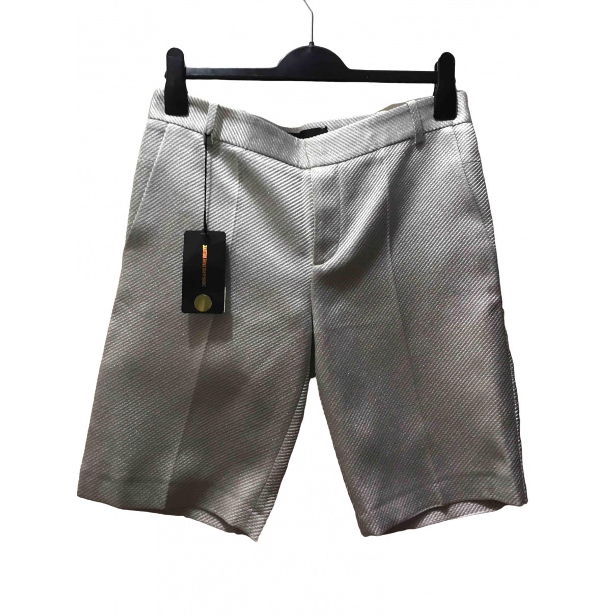 Zadig & Voltaire Spring Summer 2020 Silver Shorts for Women 38 FR