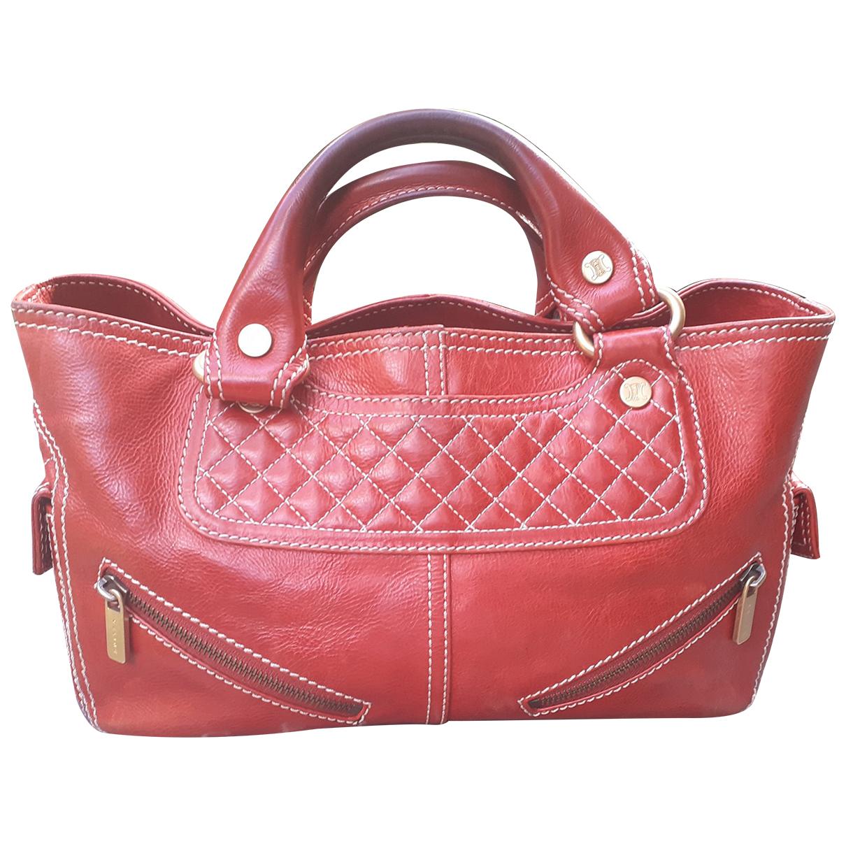 Celine Boogie Handtasche in  Rot Leder