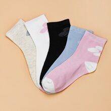 5 pares calcetines con patron floral