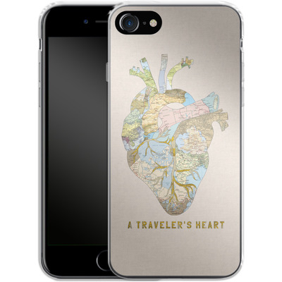 Apple iPhone 7 Silikon Handyhuelle - A Travelers Heart von Bianca Green