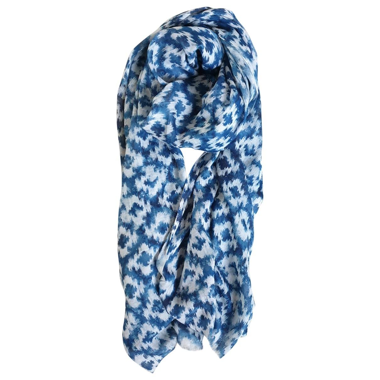 Gerard Darel - Foulard   pour femme en lin - bleu