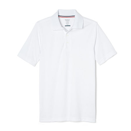 French Toast Little & Big Boys Short Sleeve Moisture Wicking Polo Shirt, Small , White