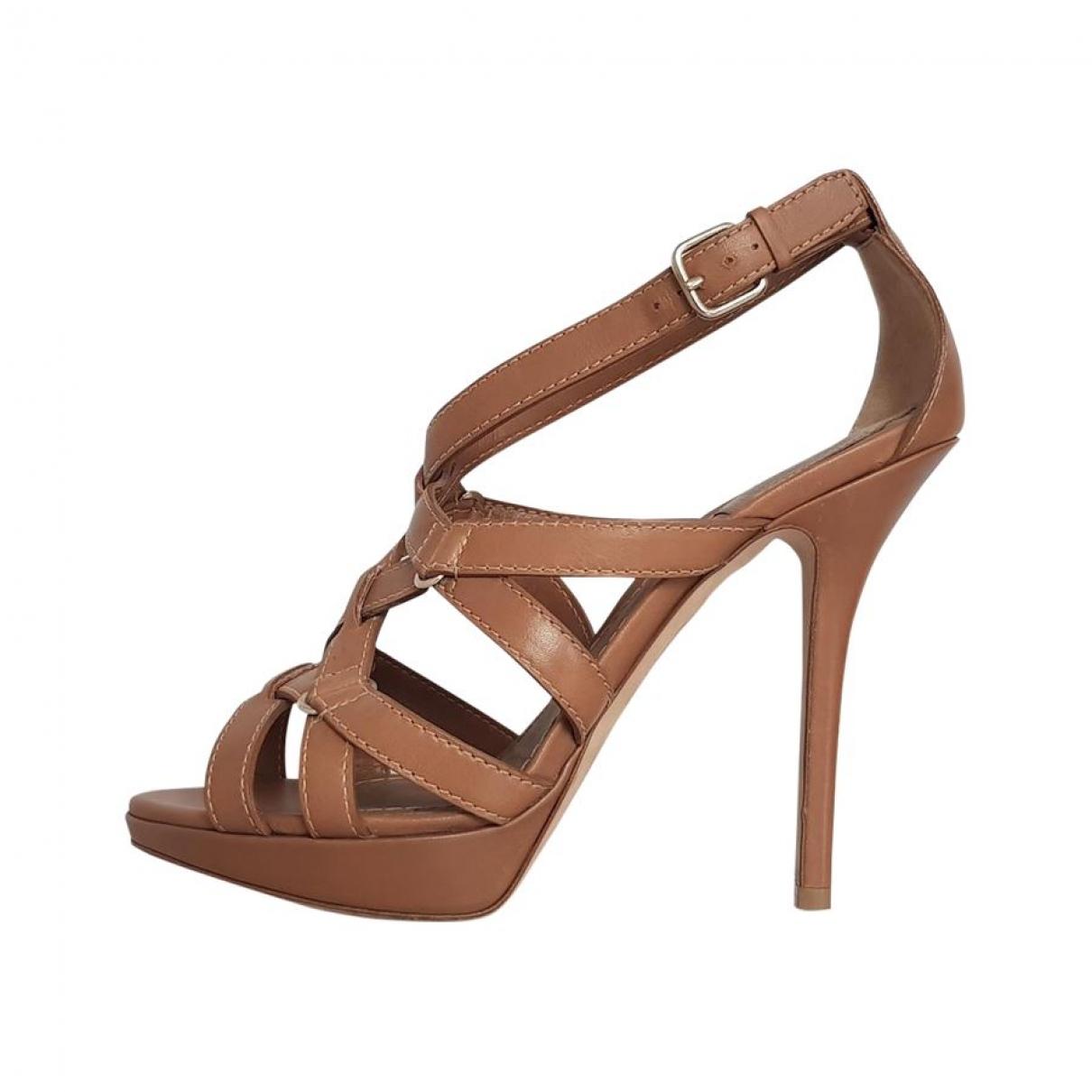 Dior - Sandales   pour femme en cuir - marron