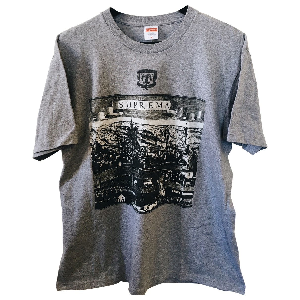 Supreme \N Grey Cotton T-shirts for Men M International