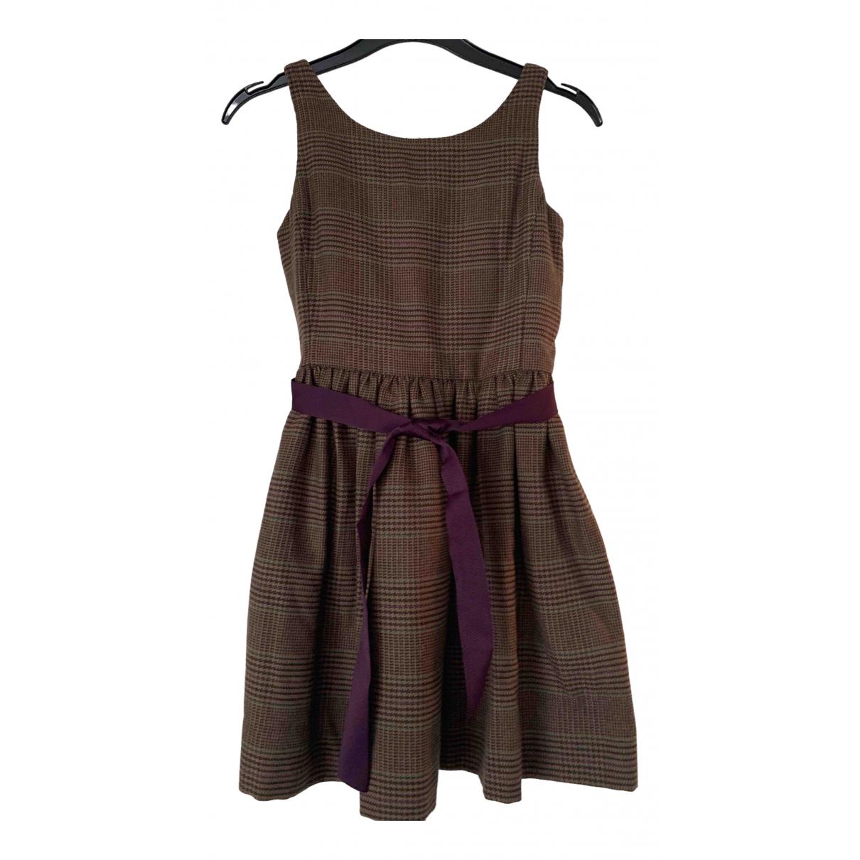 Polo Ralph Lauren - Robe    pour enfant en laine - marron