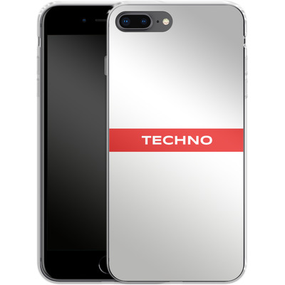 Apple iPhone 7 Plus Silikon Handyhuelle - RED LINE von Berlin Techno Collective