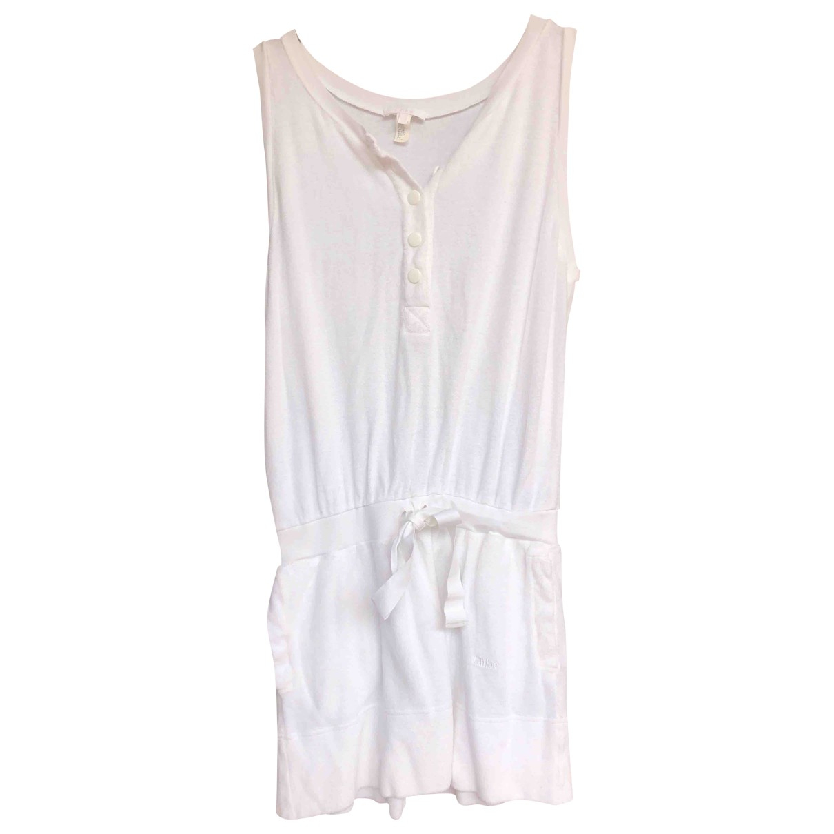 Chloé \N White Cotton dress for Women 40 IT