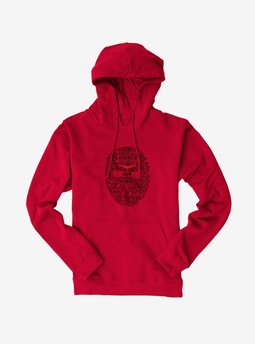 Friday The 13th Jason Script Mask Hoodie