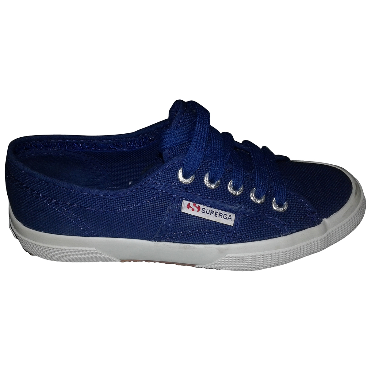 Superga \N Sneakers in  Blau Kautschuk
