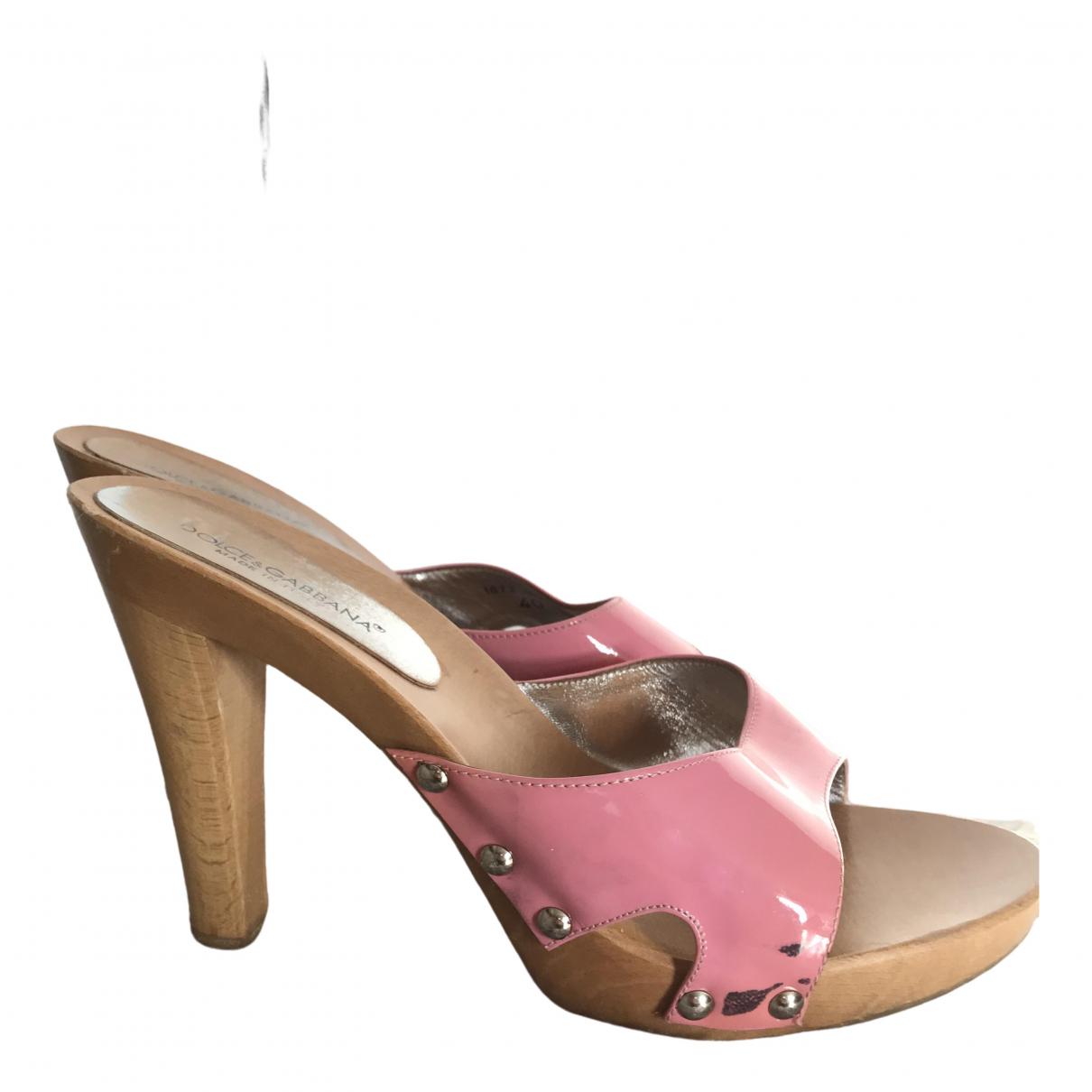 Dolce & Gabbana \N Clogs in  Rosa Leder