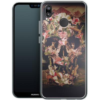 Huawei P20 Lite Silikon Handyhuelle - Jungle Skull von Ali Gulec